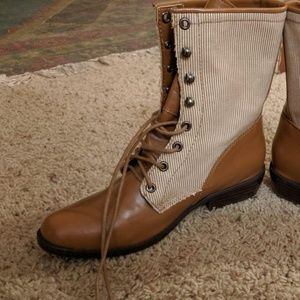 Urban Outfitters striped boots
